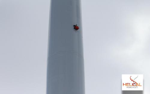 HR-MP20 On Station Half Way Up Liberty 2.5MW Wind Turbine.